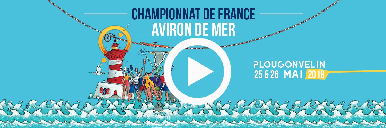 Cliquez sur l'image pour accéder au live vidéo des championnats de France d'aviron de mer 2018